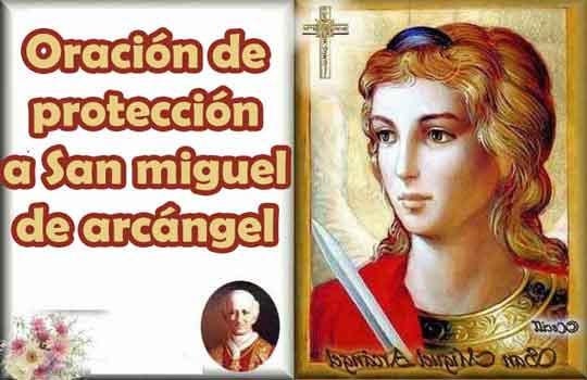 Oración de protección a san miguel de arcángel