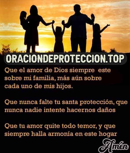 Oración de protección para una familia católica