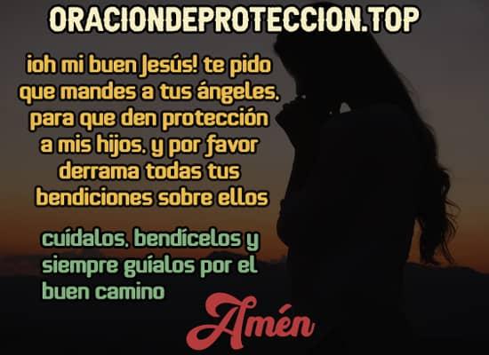 oracion con imagen para pedir a Dios que cuide a tus hijos