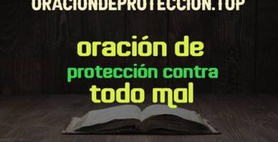 Oraciones de protección contra todo mal