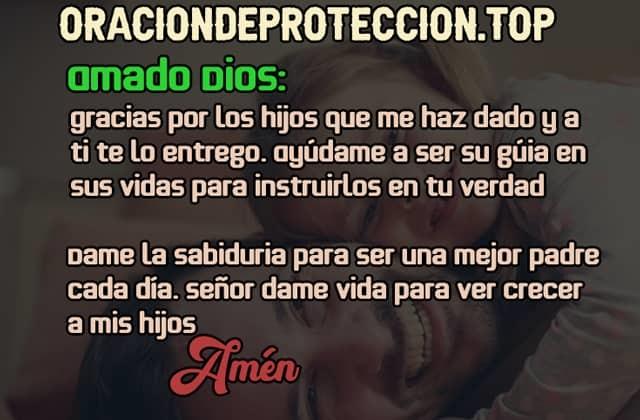 Oración corta de protección a los hijos
