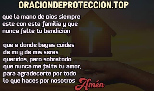 Oración de protección para la familia cristiana