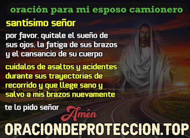 Oración para proteger a mi esposo camionero