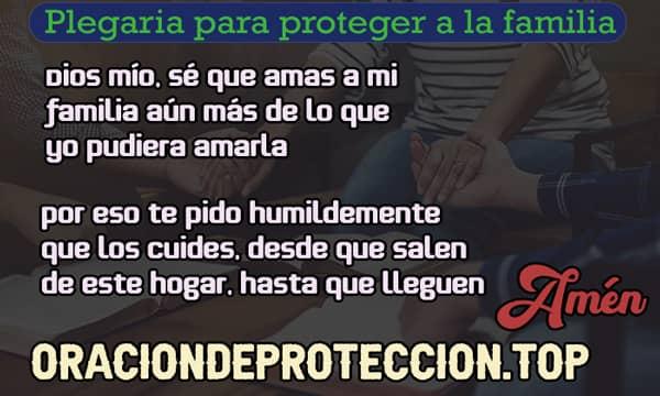 Plegaria para proteger a mi familia
