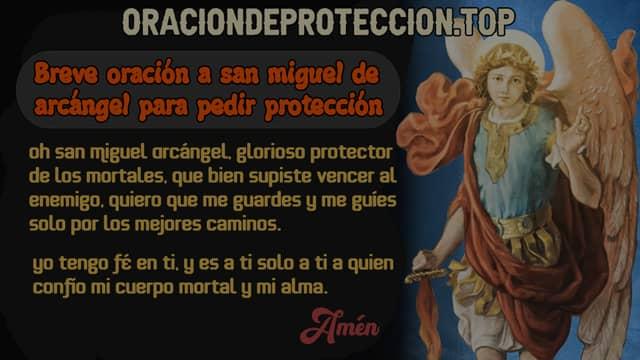 Breve oración a san miguel de arcángel para pedir protección