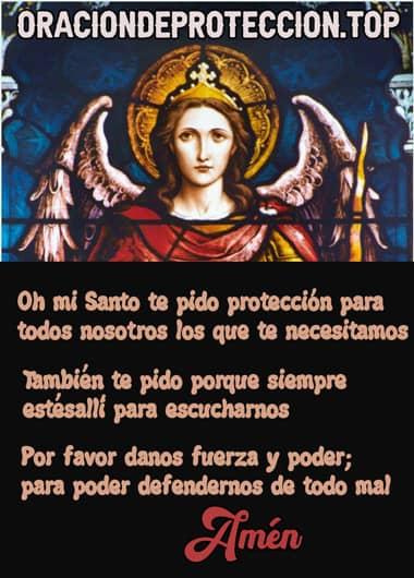 oración católica de protección a San Miguel de arcángel