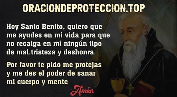 Oración corta a san Benito para que nos proteja y cuide contra todo mal