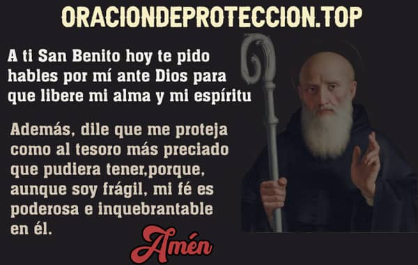 Poderosa oración para pedir protección a san Benito